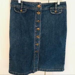 REDUCED! D.B. Knee Length Denim Skirt  Orig $45
